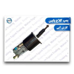 Blue carton bottom collage pump