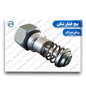 Lubricating oil pressure screw